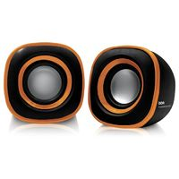 Колонки BBK CA-301S 2.0 черный/оранжевый 3Вт