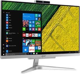 "Моноблок Acer Aspire C22-865 21.5"" Full HD i3 8130U (2.2)/4Gb/500Gb 5.4k/UHDG 620/CR/Windows 10 Home/GbitEth/WiFi/BT/65W/клавиатура/мышь/Cam/серебристый 1920x1080"