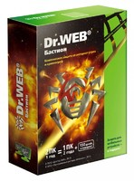 ПО DR.Web Security Space PRO + криптограф Atlansys Bastion 2-Desktop 1 year Box (BHW-BR-12M-2-A3)
