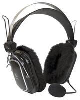 Наушники с микрофоном A4 HS-60 черный 2.5м мониторы оголовье