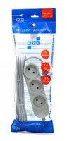 Сетевой удлинитель Powercube PC-Y-2-05-3 3м (5 розеток) серый (пакет ПЭ)