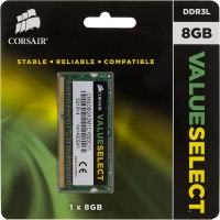 Память DDR3L 8Gb 1600MHz Corsair CMSO8GX3M1C1600C11 RTL PC3-12800 CL11 SO-DIMM 204-pin 1.35В