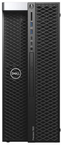 ПК Dell Precision T7820 MT XeSi 2x4110 (2.1)/32Gb/2Tb 7.2k/SSD256Gb/DVDRW/Windows 10 Professional Multi Language 64 +W10Pro/GbitEth/950W/клавиатура/мышь/черный
