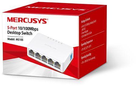 Коммутатор Mercusys MS105 5x100Mb неуправляемый