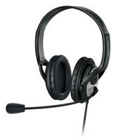 Наушники с микрофоном Microsoft LifeChat LX-3000 черный/серебристый 1.8м мониторы оголовье (JUG-00015)