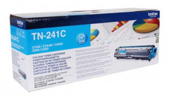 Тонер Картридж Brother TN241C голубой (1400стр.) для Brother HL3140/3150/3170/DCP9020/MFC9140/9330/9340