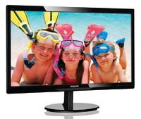 "Монитор Philips 24"" 246V5LHAB (00/01) черный TN+film LED 5ms 16:9 HDMI M/M матовая 250cd 1920x1080 D-Sub FHD 4.65кг"