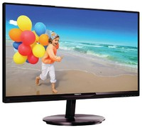 "Монитор Philips 23"" 234E5QSB (00/01) черный IPS LED 5ms 16:9 DVI матовая 1000:1 250cd 178гр/178гр 1920x1080 D-Sub FHD 3.46кг"