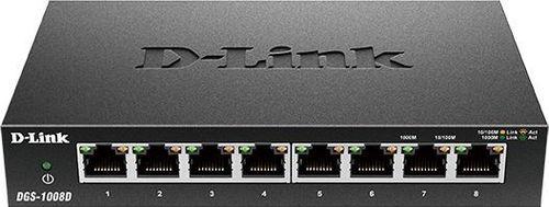 Коммутатор D-Link DGS-1008D/J3A 8G неуправляемый