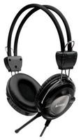 Наушники с микрофоном A4 HS-19 серебристый/черный 2м мониторы оголовье (HS-19-1)
