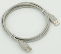 Кабель-удлинитель USB A(m) USB A(f) 1.8м серый