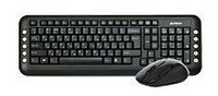 Клавиатура + мышь A4 V-Track 7200N клав:черный мышь:черный USB беспроводная Multimedia