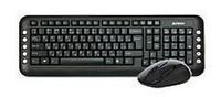 Клавиатура + мышь A4 V-Track 7200N клав:черный мышь:черный USB беспроводнаяMultimedia