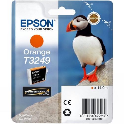 Картридж струйный Epson T3249 C13T32494010 оранжевый (14мл) для Epson SureColor SC-P400