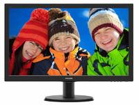"Монитор Philips 23.6"" 243V5QHABA (00/01) черный VA LED 8ms 16:9 DVI HDMI M/M матовая 250cd 178гр/178гр 1920x1080 D-Sub FHD 3.66кг"